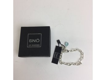 Snö of Sweden, Armband, Surrey brace single turquoise, Silverfärgad