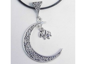Elefant måne halsband / Elephant moon necklace