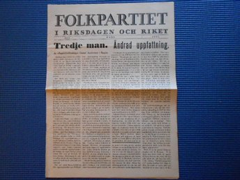 Folkpartiet nr 3 1937
