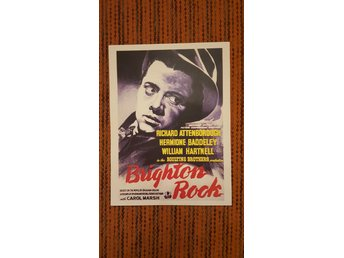 Poster / Brighton Rock / Richard Attenborough / Hermione Baddeley / Reprint