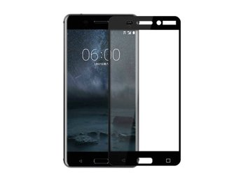 Nokia 8 - 3D Curved Full Tempered Glass Coverage Screen Protector - Svart