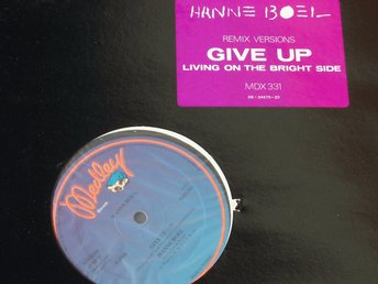 "HANNE BOEL - GIVE UP 12"" 1988 REMIX VERSIONS TOPPSKICK!"