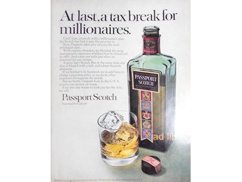 PASSPORT SCOTCH WHISKY TIDNINGSANNONS Retro 1968