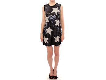 Dolce & Gabbana - Masterpiece black crystal swarovski stars sheath dress