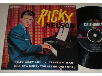 Ricky Nelson EP/PS Hello Mary Lou 1961