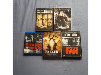 Javascript är inaktiverat. - Södertälje - Action dvd-filmer innehållandes: The departed We own the night New town killers (BluRay) The fallen The fan Begagnade men i bra skick - Södertälje