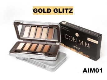 Icon Mini by Absolute New York Gold Glitz -Ögonskugga Palett