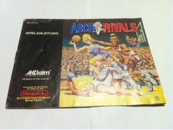 NES - Manualer: Arch Rivals (Endast manual Tysk)
