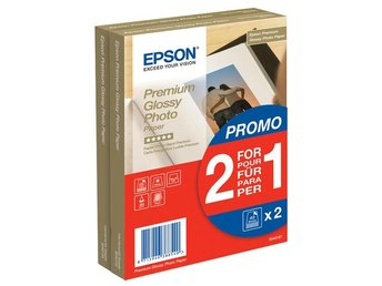 Epson Premium Glossy Photo Paper 10x15cm, 255g/m², 80 Sheets