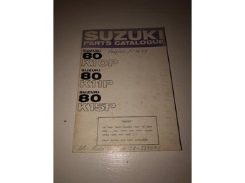 SUZUKI Part catalogue Suzuki 80 K10p, K11P. K15P