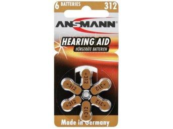 1x6 Ansmann Zinc-Air 312 (PR 41) Hörapparater Batterier - Höganäs - 1x6 Ansmann Zinc-Air 312 (PR 41) Hörapparater Batterier - Höganäs