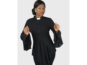 HOUSE OF ILONA Esther Clergy Blouse pastor präst tunika NY! passar även gravid