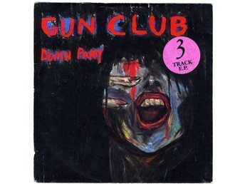 GUN CLUB – EP Death Party (M-) w/PS / RARE UK 1st Press 1983