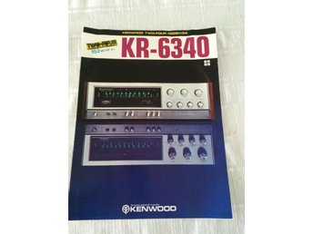 Kenwood KR-6340 Two-Four channel Reciver Försljnings brochyr