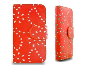 iPhone 4-4S Fodral Glitter Orange
