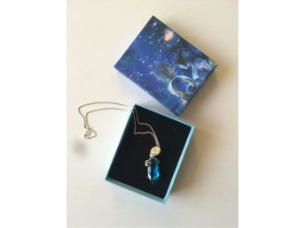 Final Fantasy cosplay cloud yuna Collana Pietra blue necklace