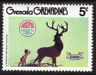 Disney, Grenada Grenadines, 5-cent Bambi, Scott 416