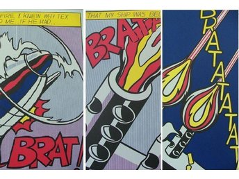 Roy Lichtenstein (As I opened fire) OBS!! SERIE (3 st)
