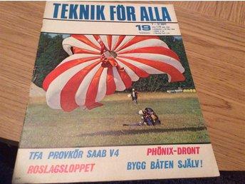 Teknik För Alla 1966-19 Saab V4.Ford Fairlane.Fallskärmshopp,Roslagsloppet - Filipstad - Teknik För Alla 1966-19 Saab V4.Ford Fairlane.Fallskärmshopp,Roslagsloppet - Filipstad