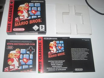 Super Mario bros Gba Kartong & Manual