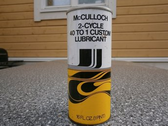 Mc Cullog Two Stroke Oil  RETRO
