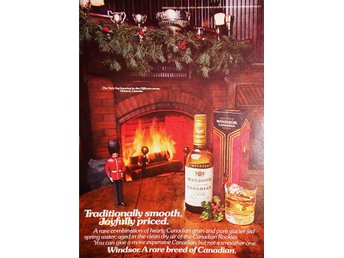 WINDSOR CANADIAN WHISKY TIDNINGSANNONS Retro 1976