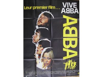 "ABBA- MEGA RARE HUGE  ""THE MOVIE POSTER "" FRANCE SIZE 160 cm x 120 cm"
