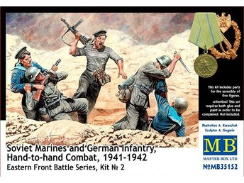 Masterbox 1/35 Soviet Marines and German Infantry, Hand-to-hand Combat