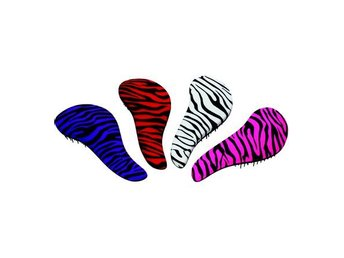 Detangler Brush Zebra Pattern Vit