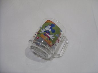 Disney Mickey & Minnie Mouse Musse och Mimmi Pigg glas Made in France