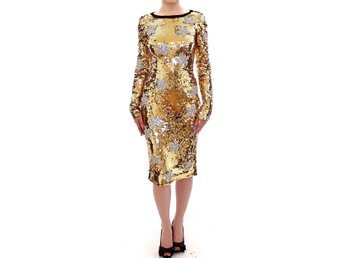 Dolce & Gabbana - Masterpiece gold sequined clear crystal swarovski stars dress
