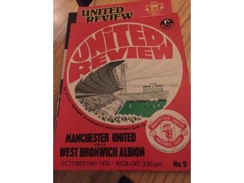 FOTBOLL Program Manchester United FC v W B A 24/10 1970 Old Trafford