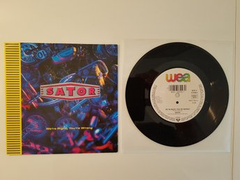 "Sator - We're right, you're wrong 7"" vinylsingel FINT EX"