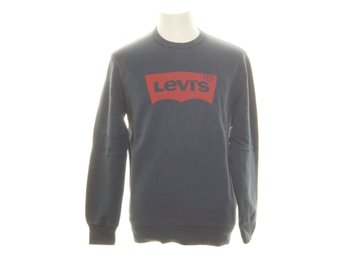 Levi Strauss & Co, Sweatshirt, Strl: M, Graphic crew B, Blå/Röd