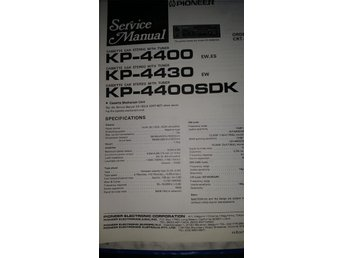Pioneer KP-4400, KP-4430, KP4400SDK Orginal Service manual