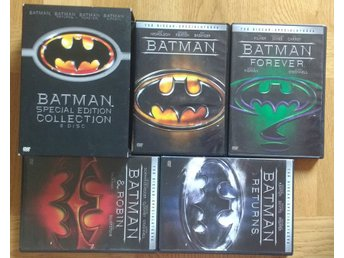 DVD-box: Batman Collection 4 DVD (svensk text)