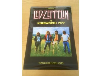 LED ZEPPELIN KNEBWORTH 1979 PHOTO POSTER