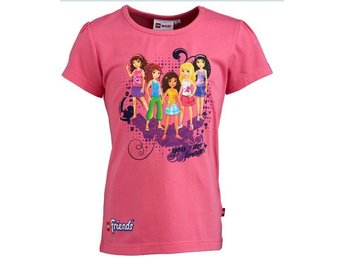 T-SHIRT FRIENDS, TASJA 304, CERISE-140