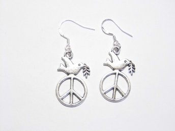 Döv av fred örhängen / Dove of peace earrings