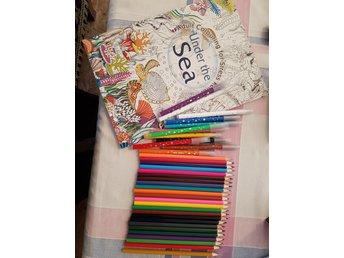 färgpennor till vuxen målarbok