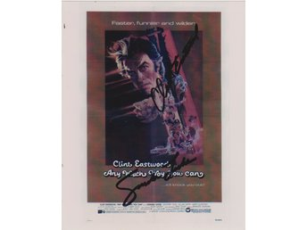 ANY WHICH WAY YOU CAN - CLINT EASTWOOD SONDRA LOCKE PRE-PRINT AUTOGRAF FOTO