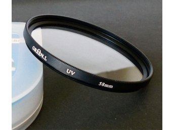 UV filter 58mm GreenL  passar Canon, Nikon, Pentax m fl