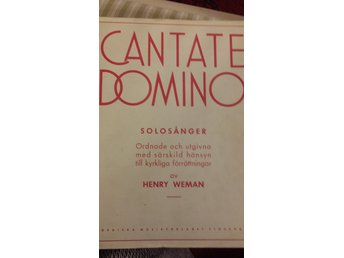 musik noter  Cantate Domino