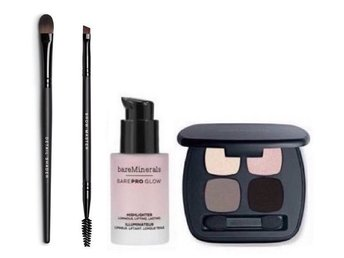 bareMinerals 4 produkter Ready Eyeshadow 4.0, Liquid Highlighter & 2 borstar NYA