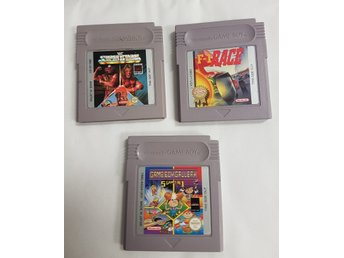 3 st Gameboy spel till Standard / Color - WF Superstar - F1 Race - GB Gallery