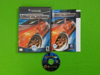 Need For Speed Underground ENGELSK UTGÅVA KOMPLETT GameCube Game Cube GC