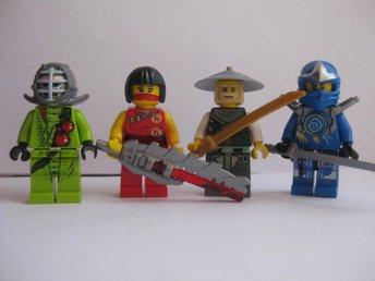 Lego Figurer Figur - 4st Ninjago blandade Figurer - LF5 T - Uddevalla - Lego Figurer Figur - 4st Ninjago blandade Figurer - LF5 T - Uddevalla