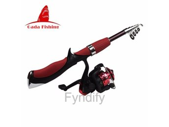 Fiskespö Med Rulle Carbon Superhard Ultra Light Rod Fishing Tackle Set