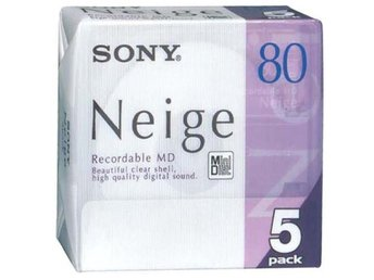 NY! 5 X MD, mini disc, minidisc, minidisk, 80 min, SONY NEIGE, Vintage, Retro