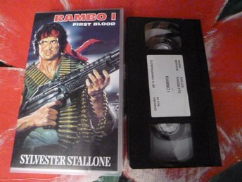 RAMBO 1, FIRST BLOOD, VHS, FILM, ACTION, 92 MIN.
